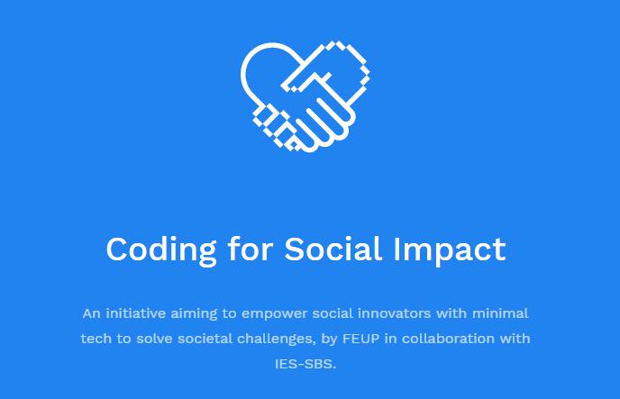 """""""Coding for social impact"""", uma iniciativa da disciplina de Laboratório de Desenvolvimento de Software da Faculdade de Engenharia da Universidade do Porto."""