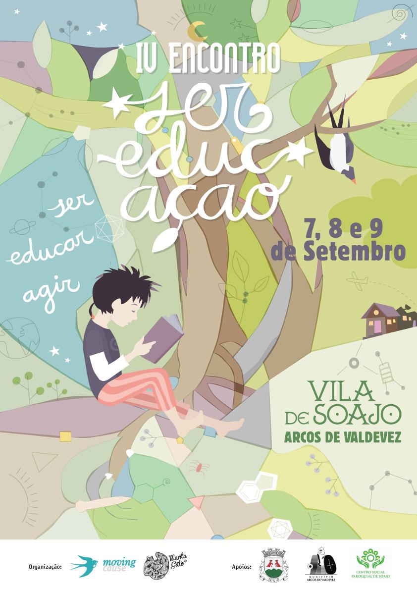 Cartaz do IV Encontro Ser EducAção. Design: Nuria Barreras